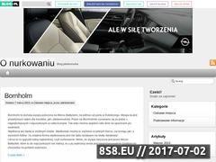 Miniaturka domeny o-nurkowaniu.blog.pl