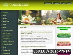 Miniaturka oazarelaksu.webnode.com (Zdrowy styl życia - Oaza Relaksu)