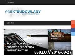 Miniaturka domeny obiektbudowlany.pl