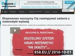 Miniaturka obliczone.pl (Zadania z rozwiązaniami z matematyki)
