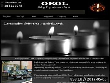 Zrzut strony OBOL Usługi pogrzebowe