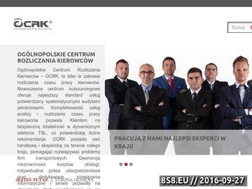 Zrzut strony Usługi rozliczeniowe - OCRK