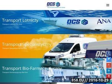 Zrzut strony Międzynarodowy transport drogowy dla firm