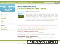 Miniaturka domeny www.oczyszczalniesciekow.f-media.pl