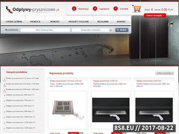 Zrzut strony Wyposażenie łazienki: sklep nowoczesnych odwodnień łazienkowych