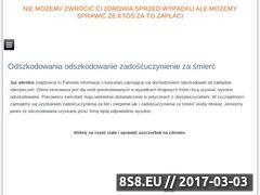 Miniaturka domeny www.odszkodowania24.eu