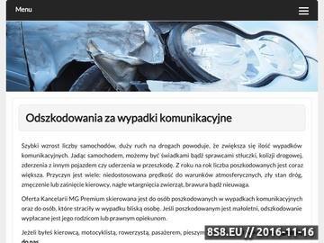 Zrzut strony Odszkodowania komunikacyjne Kraków