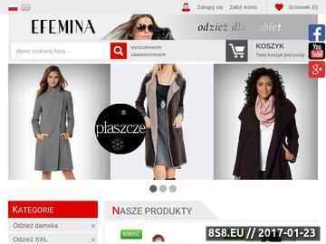 Zrzut strony Odzież damska, sklep internetowy, modna i wygodna odzież damska
