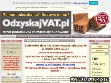 Zrzut strony Zwrot VAT w budownictwie VZM-1