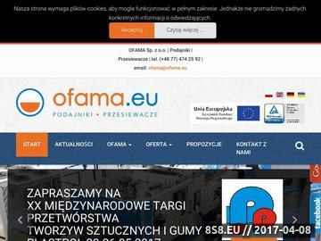 Zrzut strony Przesiewacze, przenośniki taśmowe, podajniki wibracyjne - OFAMA Sp. z o.o.