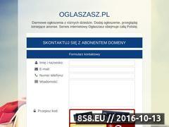 Miniaturka domeny www.oglaszasz.pl