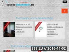 Miniaturka www.ogloszenia-nieruchomosci.info (Portal z ogłoszeniami nieruchomości)
