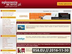 Miniaturka domeny ogloszenia.wroc.pl