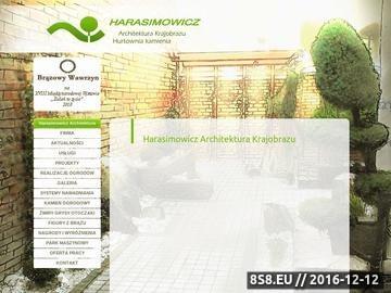 Zrzut strony Ogrody Harasimowicz