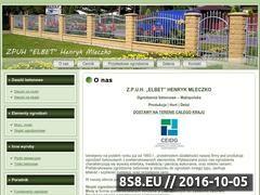 Miniaturka domeny www.ogrodzenia-elbet.pl