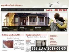 Miniaturka domeny www.ogrodzeniaplastikowe.pl