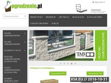 Zrzut strony Ogrodzenia, bramy, cegły ogrodzeniowe i panele ogrodzeniowe