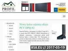 Miniaturka okna-drzwi.slupsk.pl (Sprzedaż i montaż drzwi, okien, bram oraz rolet)