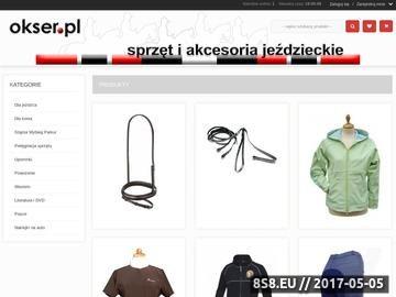 Zrzut strony Okser.pl | Sklep Jeździecki - 15.000 pozycji w magazynie!