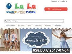 Miniaturka olalakids.pl (O La La - sklep z ciuchami dla nastolatków)