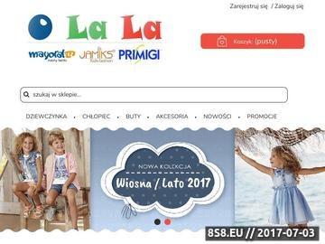 Zrzut strony E-sklep gdzie kupisz ubrania i ciuszki dla swojego dziecka
