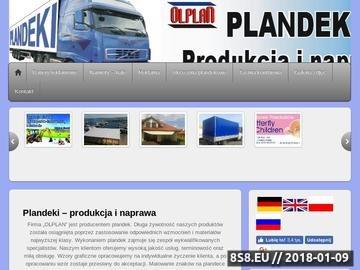 Zrzut strony Plandeki - produkcja i naprawa