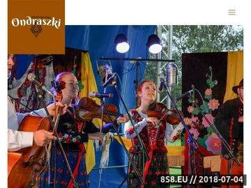 Zrzut strony Kapela Ondraszki - Góralska kapela ze Szczyrku