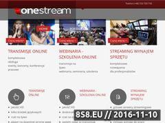 Miniaturka onestream.pl (Usługi Live Streaming)