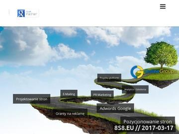 Zrzut strony OnlineGroup pozycjonowanie stron WWW Kraków