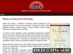 Miniaturka domeny www.onyxmarmury.pl