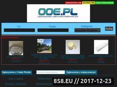 Miniaturka ooe.pl (Ogłoszenia lokalne i możliwość dodania bezpłatnie)