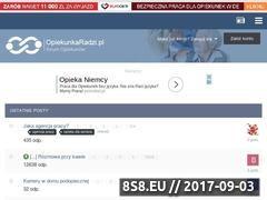 Miniaturka opiekunkaradzi.pl (Forum z ofertami pracy i dyskusjami opiekunów)