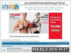 Miniaturka opiniepisaniepracdyplomowych.fora.pl (Porady, opinie i pomoc w pisaniu)