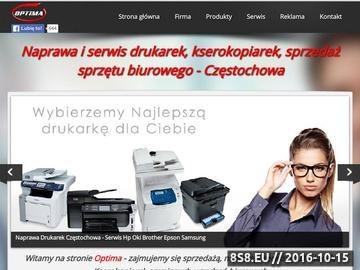 Zrzut strony OPTIMA - Naprawa,serwis drukarek,kserokopiarek,Częstochowa
