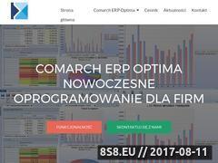 Miniaturka optima-poznan.pl (Strona o oprogramowaniu dla firm Comarch Optima)
