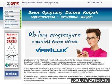 Zrzut strony Optyk Gdańsk - Trójmiasto Zakład Optyczny Dorota Kołpak