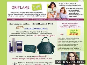 Zrzut strony Kosmetyki Oriflame
