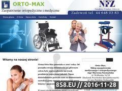 Miniaturka domeny www.orto-max.pl