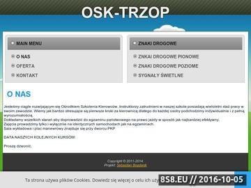 Zrzut strony Ośrodek Szkolenia Kierowców Sławomir Trzop