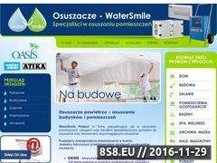 Miniaturka domeny www.osuszacze.watersmile.pl