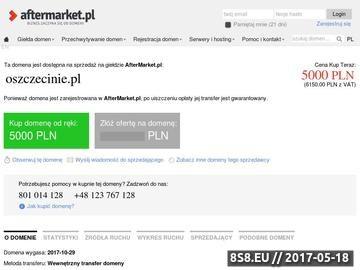 Zrzut strony Informacje o Szczecinie
