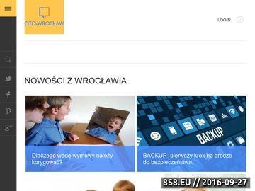 Zrzut strony Informacje z Wrocławia