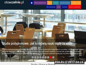 Zrzut strony Wyszukiwarka i porównywarka uczelni wyższych w polsce