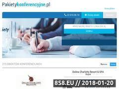 Miniaturka pakietykonferencyjne.pl (Pakiety na konferencje)