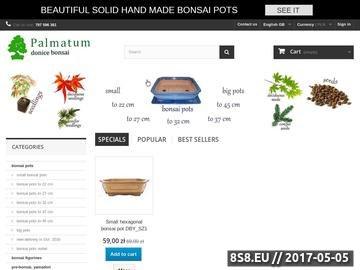 Zrzut strony Sklep bonsai