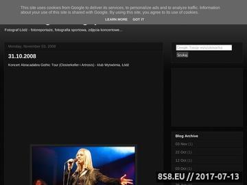 Zrzut strony Fotograficzny blog