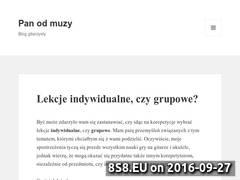 Miniaturka Blog muzyczny i nauka gry na gitarze (panodmuzy.pl)