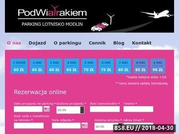 Zrzut strony Miejsca parkingowe przy lotnisku w Modlinie