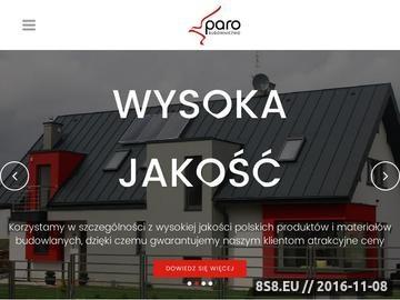 Zrzut strony Paro - firma budowlana Kraków
