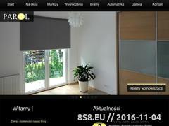 Miniaturka domeny www.parol-rolety.pl